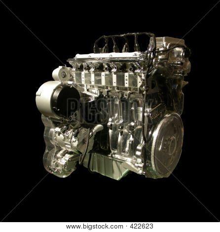 Transparent Motor Car Engine