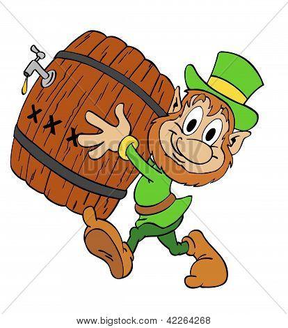 Leprechaun With Beer