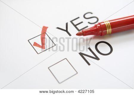 'Yes' Chosen
