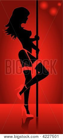 Stripper With High Heel