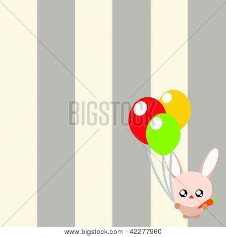 Rabbit Cartoon Background Illustration