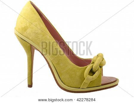 Green Chamois Female Shoe