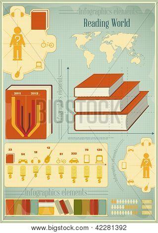 Book Infographics Elements