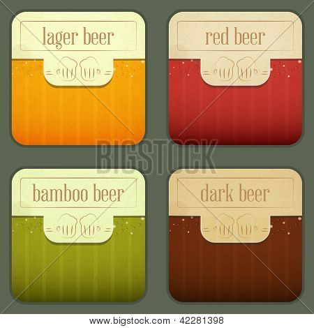 Four Design Beer Labels