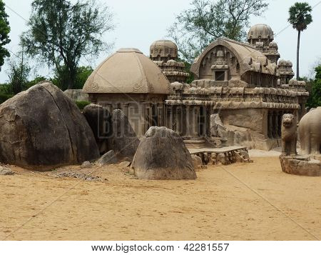 Five Chariots of Mahabalipuram