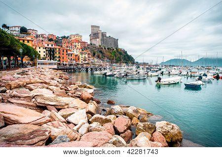 View Of Porto Venere. Porto Venere Is A Town And Comune Located On The Ligurian Coast Of Italy In Th