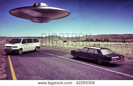 Ufo  In The Desert