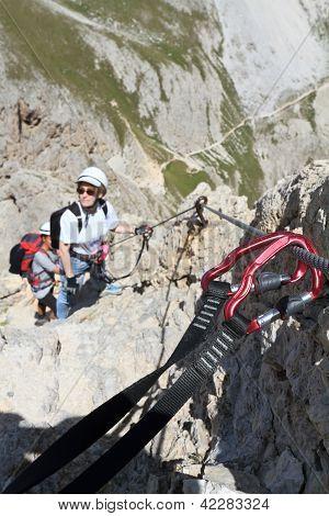 Climbing On Via Ferrata