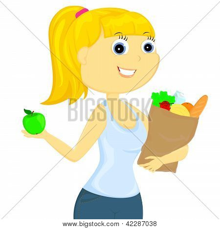 The Girl With Food