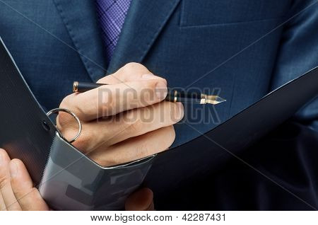 Businessman Sign Up Contract