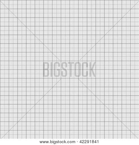 Vector de patrones sin fisuras - papel de milímetro