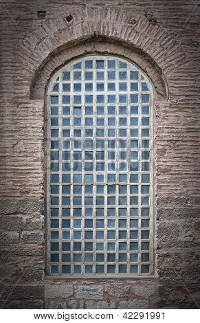 Barred Mosque Window