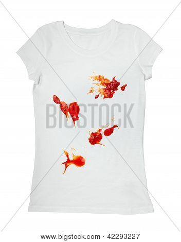 Ketchup Stain Dirty T Shirt Clothing