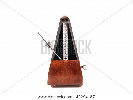 Vintage wooden metronome