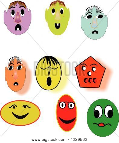 Illustration Of Silly And Funny Faces