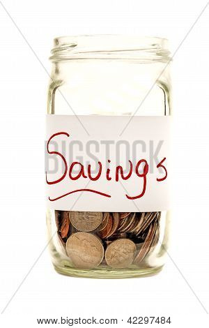 Savings Jar XXXL Isolated On White