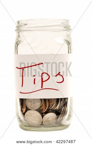 Tips Jar XXXL Isolated On White