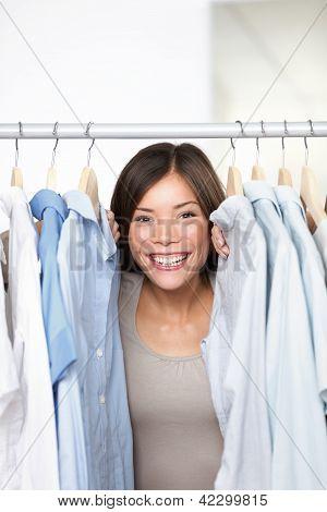 Dueño de tienda de ropa de pequeña empresa