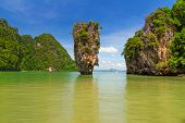 Ko Tapu rock on James Bond Island, Phang Nga Bay, Thailand