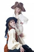 foto of niece  - Aunt and niece playing in pirate costumes - JPG