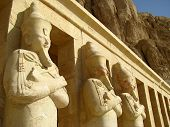 stock photo of hatshepsut  - Statues at Queen Hatshepsut - JPG