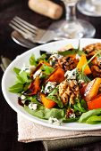 stock photo of walnut  - Delicious salad - JPG