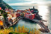stock photo of church  - Aerial view of Vernazza  - JPG