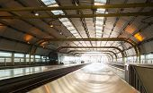 picture of leonardo da vinci  - Railway station at Rome Fiumicino Airport station Leonardo da Vinci Express goes into city center - JPG