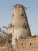 stock photo of pigeon loft  - a rural pigeonry at Dakhla Oasis in Egypt - JPG