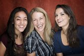 Three Laughing Women