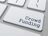 stock photo of keypad  - Crowd Funding Concept - JPG
