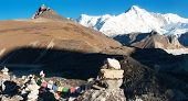foto of cho-cho  - panoramatic view of Cho Oyu  - JPG