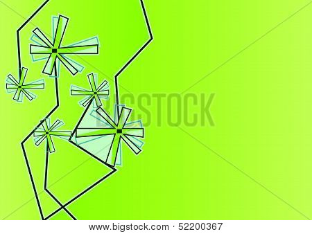 Modern Floral Background With Decorations