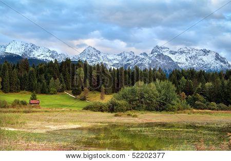 Karwendel Mountain Range Over Tennsee