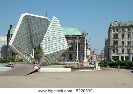 Freedom Fountain In Poznan