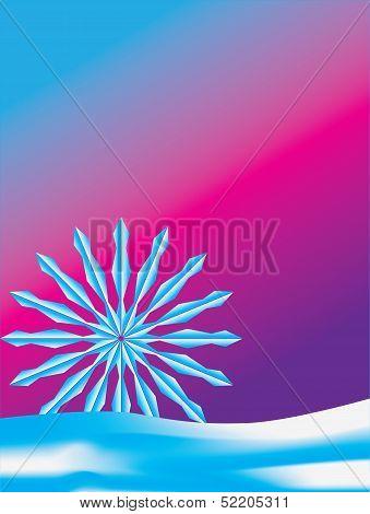 Snowflake sunrise