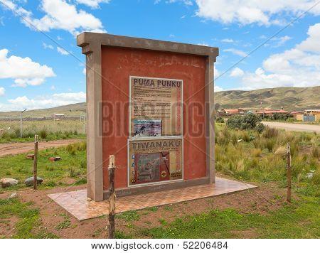 Entrance to the ruins of Puma Punku, Bolivia