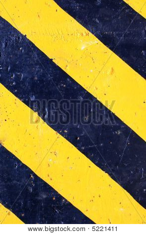 Abstract Danger Striped Grunge Background