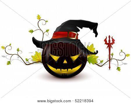 Evil Pumpkin With Hat