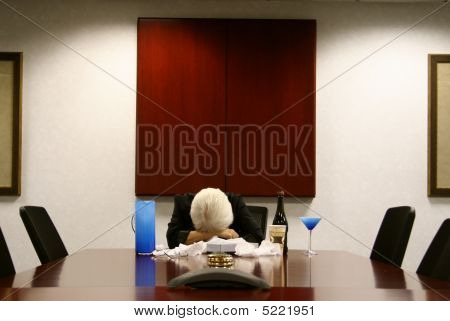 Woman Crying In Boardroom