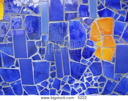 Blau und Orange-Mosaik