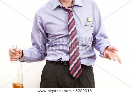 Drunk Businessman With Alcohol Problem