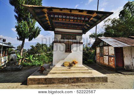 Monastry Wall, Silerygaon Village, Sikkim
