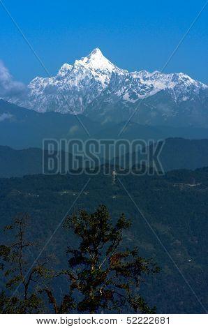 Kanchenjunga Mountain Range In The Morning, Sikkim