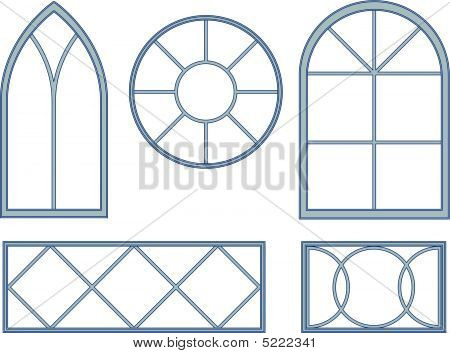 Decorative window blueprints