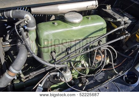 Engine Of The Citroen Traction.