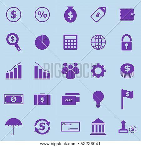 Finance Violet Icons On Blue Background