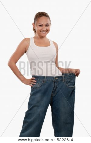 Woman In Big Pants