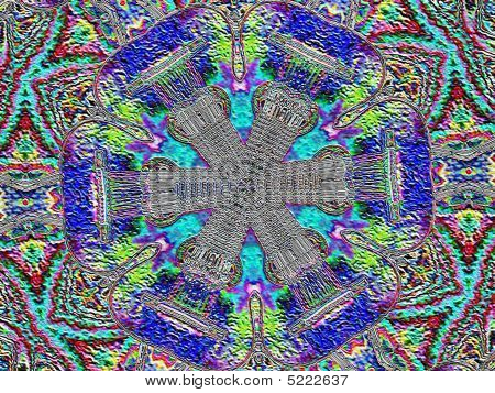 Guitar Strings Music Abstract Kaleidoscope Indian Psychedelic Texture Knit