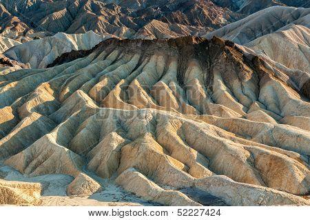 Badlands at Zabriskie Point, Death Valley, California
